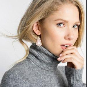 Rose quartz Kendra Scott dangle earrings Carla